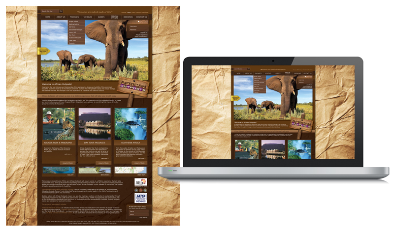 African Outposts Web Design Look & Feel