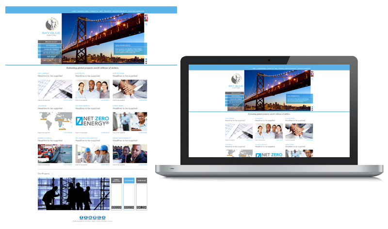 Sky Blue Capital Web Design Look & Feel