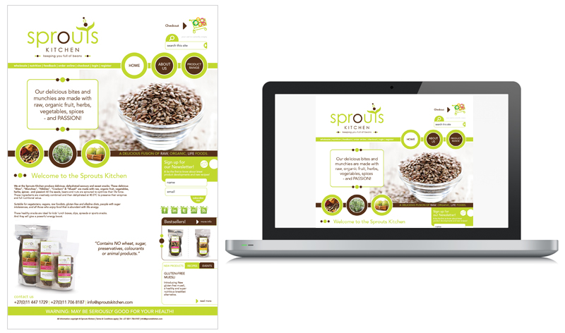 Sprouts Kitchen Web Design Look & Feel
